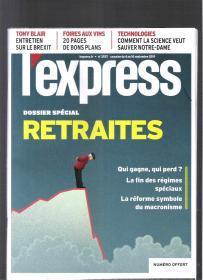 |最佳法语阅读资料最好法语学习资料|原版法语杂志 lexpress 2019年9月4-10日【店里有许多法文原版书欢迎选购】