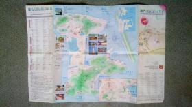 旧地图-澳门旅游地图(2002年7月)4开8品
