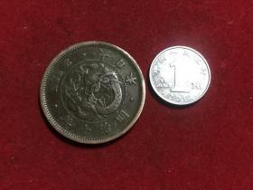 清未,日本二钱龙纹大铜币一枚6,包真包老,具体见图。感兴趣的话给我留言吧!