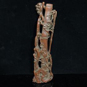 竹雕臂搁,细节如图