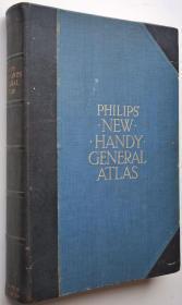 【包邮】1930年英语原版菲利普通用地图集 Philips' New Handy General Atlas