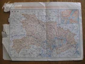 文革湖北省地图