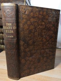 THE ESSAYS OF ELIA BY CHARLES LAMB 兰姆《伊利亚随笔》 书顶刷粉 ODHAMS 出版    19x13.2cm