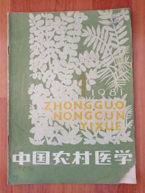 中国农村医学1981 1