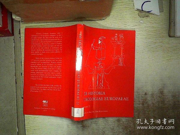 DE HISTORIA UROLOGIAE EUROPAEAE VOLUME 22(欧洲泌尿外科史第22卷)A02