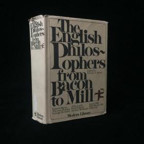 1977年 The English Philosophers from Bacon to Mill (Modern library anthologies) by Burtt, Edwin A. 精装大32开