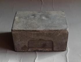 清代锡制印泥盒