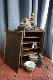 """清·书箱 老书箱 老木盒 文房以前放笔墨用的""""文具盒""""18x18x30cm保老 可改做收纳,放茶杯。这么好品相的很少见了"""