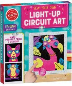 英文原版 縫制電路藝術畫 Klutz手工書 STEAM 兒童動手能力培養 Sew Your Own Light-Up Circuit Art