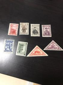 民国图瓦老邮票不同