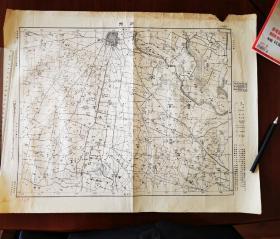 1958年翻印的1947年版《颍州(阜阳)》图