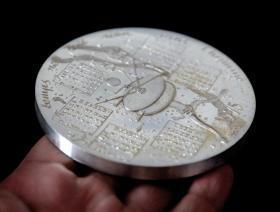 法国 大银章 直径9.5厘米 432克 1975年 天文仪器 非大铜章