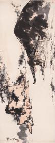 潘天寿-夏塘水牛图。纸本大小142.66*367.88厘米。宣纸原色微喷印制,按需印制不支持退货,可缩印