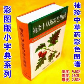 彩图袖珍版印刷《袖珍中草药彩色图谱》实用中草药彩色图册与分析 小字典彩药书原植物图解性味功用