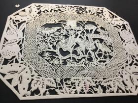 手工细纹剪纸,精品长仙鹤图,批发价,满68包邮,
