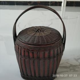 竹编提篮  (老物件)