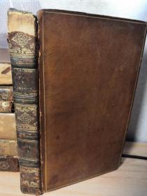 1819年 THE LIFE OF SAMUEL JOHNSON 第四本   带藏书票  全皮装帧  书口花纹  18X11CM  见图
