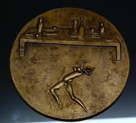 钱币稀有的大铜章 直径10.5厘米
