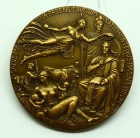 钱币精美的罗马造币厂大铜章 直径 8.1厘米 1930年发行钱币收藏