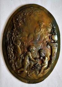 钱币法国 大铜章 小天使 29*21厘米 985克钱币收藏
