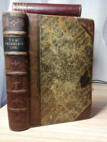 1867年  TOM CRINGLES LOG  半皮装帧  17X11.7CM