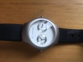 防水硅胶带 石英男女手表 双时区表  (企业定制)
