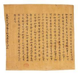 0728敦煌遗书 大英博物馆 S1332莫高窟 大般若波罗蜜多经手稿。纸本大小30*31.87厘米。宣纸原色微喷印制,按需印制不支持退货