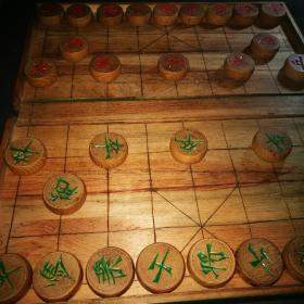中国象棋 老象棋 老木象棋盘 合售