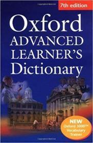 牛津高阶词典第7版(附光盘)OXFORD ADVANCED LEARNER'S DICTIONARY