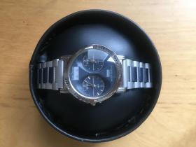防水精钢带 石英男女手表 双时区表  (企业定制)
