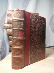 1890年  MIDDLEMARCH A STUDY OF PROVICIAL LIFE   WORKS OF GEORGE ELIOT   插图版  三面书口花纹 19X13CM  前面封面脱落  内页干净牢固