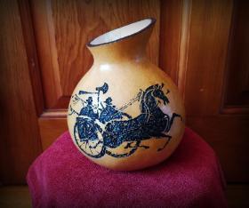 车马图葫芦容器