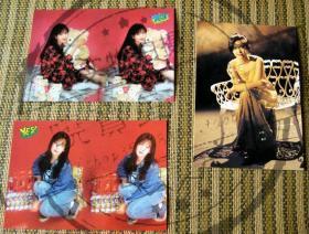 周慧敏 早期YES杂志出品3D卡两张 明信片一张 品相好近全新