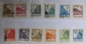 中国邮票-----普13 北京建筑(信销票)