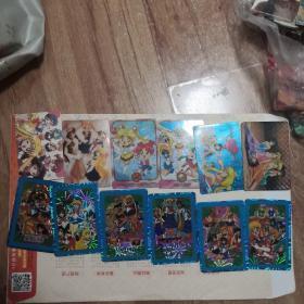 美少女战士闪卡33张 普卡39张共72张带万变钻石卡集卡册