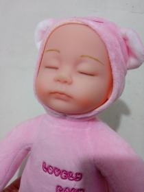 粉色睡觉娃娃玩偶玩具