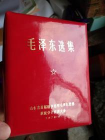 毛泽东选集  带毛主席金色头像!和纪念皮包!十分罕见!