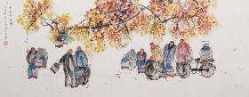 【保真特惠 丈二巨幅】北京市丰台区美术家协会会员 王雪 丈二人物 国画