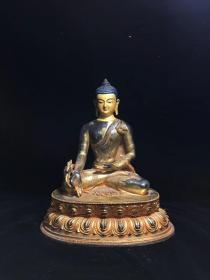 铜鎏金佛像