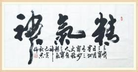 【保真】中书协会员、著名军旅书法家张忠伦精品:精气神