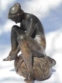 法国 古老的铜雕 重达3.5公斤 高22厘米 1900年左右