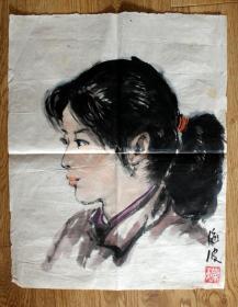 海波 80年代女青年写生