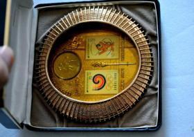 钱币韩国 运动会 纪念章 超漂亮 直径12厘米 1988年 汉城钱币收藏