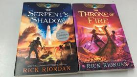 THE SERPENTS SHADOW + THE THRONE OF FIRE 两册