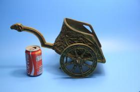 法国 老铜雕 埃及 罗马战车 重达5.6公斤 西洋古董收藏品摆件