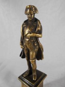 法国 老铜雕 拿破仑  13.8厘米高 251克