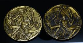钱币2010年版 美国章牌设计师协会 126号章 亚当与夏娃 101mm