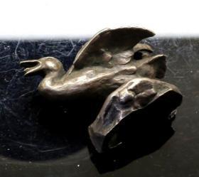 法国 小铜鸭 野鸭 西洋收藏品 铜雕 狮子 老虎 大象 熊猫 动物