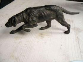 法国 铜雕 狗 长22.5厘米 高8厘米 重390克