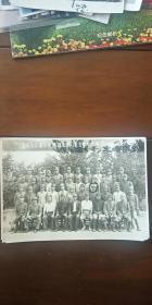老照片 伪满洲国时期 吉林省主催各市县旗造林讲习会纪念摄影  康德10年8月24日